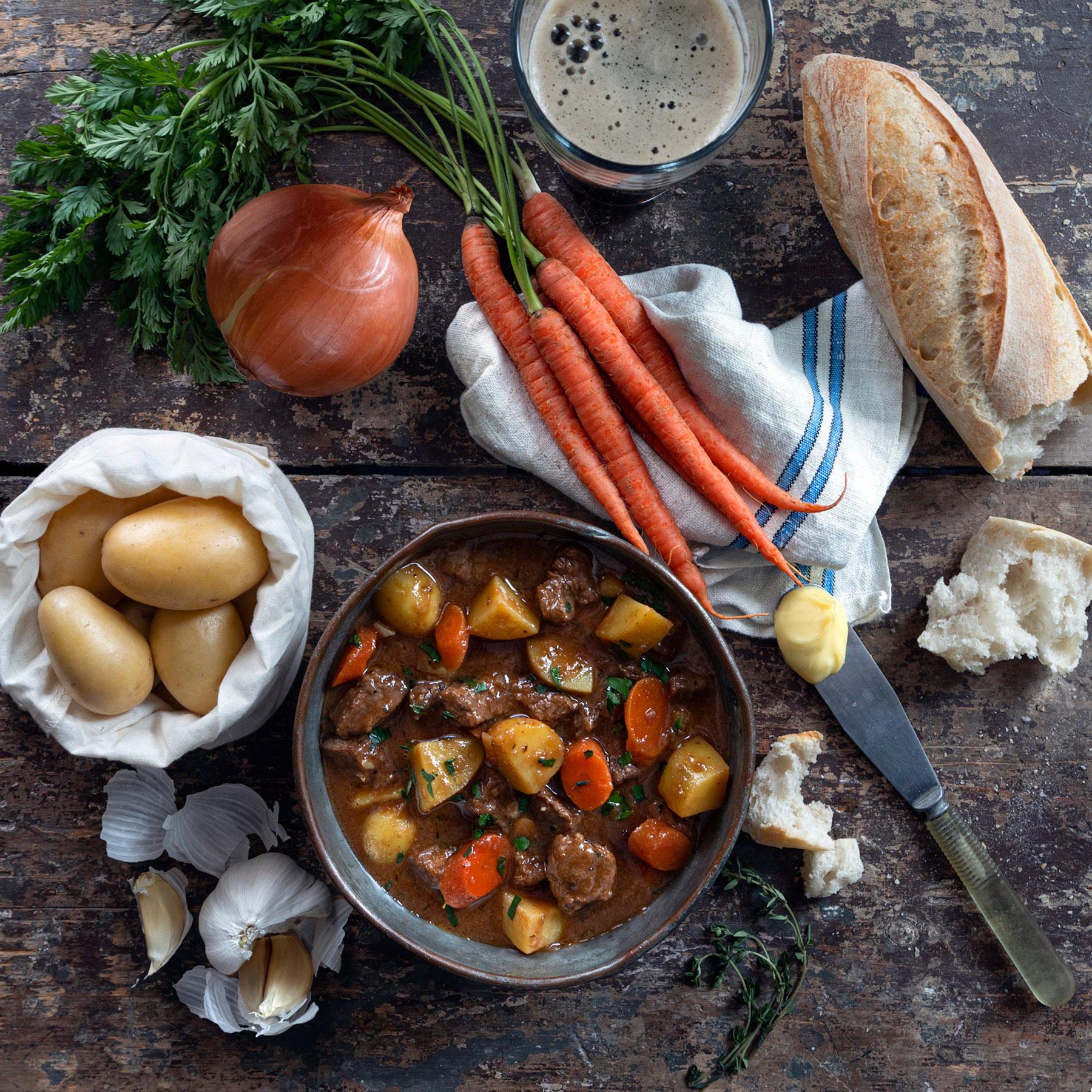 Stovetop Steak + Stout Stew